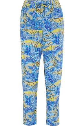 ETRO Printed silk-crepe pants
