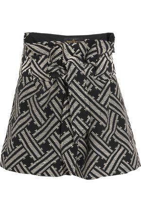 VIVIENNE WESTWOOD ANGLOMANIA Kung Fu belted cotton-blend jacquard shorts