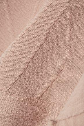 JONATHAN SIMKHAI Cutout textured stretch-knit turtleneck top