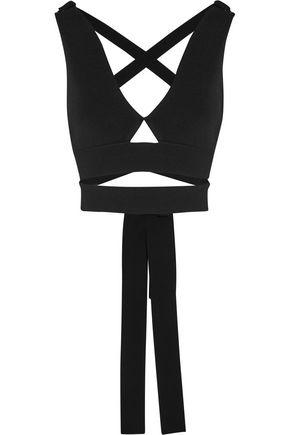 PROENZA SCHOULER Cropped stretch-jersey wrap top