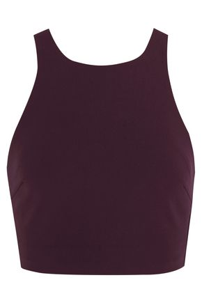 ELIZABETH AND JAMES Marjorie cropped stretch-ponte top