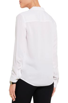 MICHAEL MICHAEL KORS Wrap-effect silk blouse