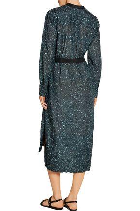 PROENZA SCHOULER Printed cotton and silk-blend dress