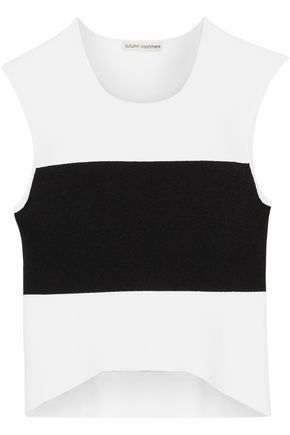 AUTUMN CASHMERE Two-tone knitted top