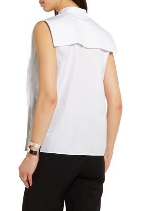 MAISON MARGIELA Pintucked cotton-poplin shirt