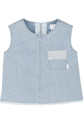 SJYP Cropped denim top