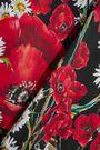 DOLCE & GABBANA Floral-print stretch-silk shirt