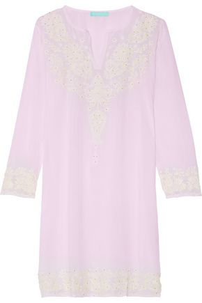 MELISSA ODABASH Pippa embroidered voile coverup