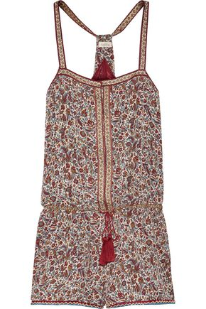 TALITHA Printed silk-georgette playsuit