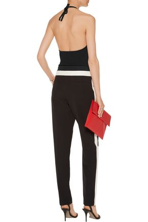 T by ALEXANDER WANG Ribbed stretch-jersey halterneck bodysuit