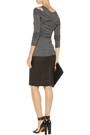 BAILEY 44 Wrap-effect stretch-jersey top