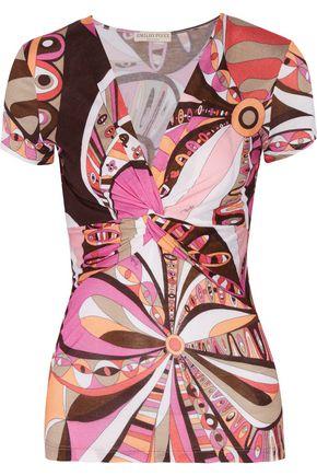 EMILIO PUCCI Printed stretch-jersey top