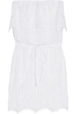 MIGUELINA Dylan crocheted cotton-lace coverup