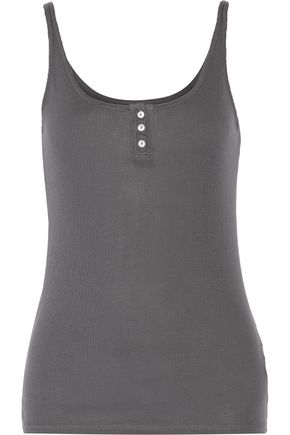 ENZA COSTA Ribbed Pima cotton and Micro Modal-blend jersey tank