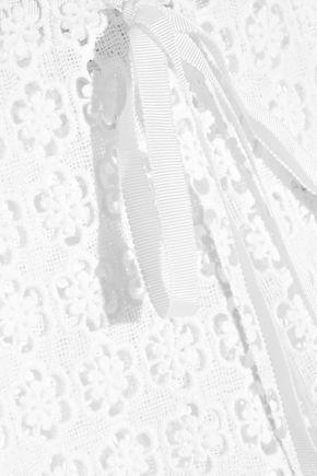 MIGUELINA Jemma crocheted cotton-lace pants