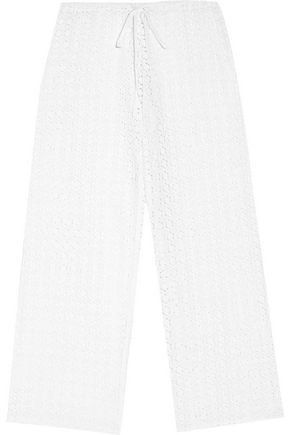 MIGUELINA Jemma crocheted cotton-lace pants