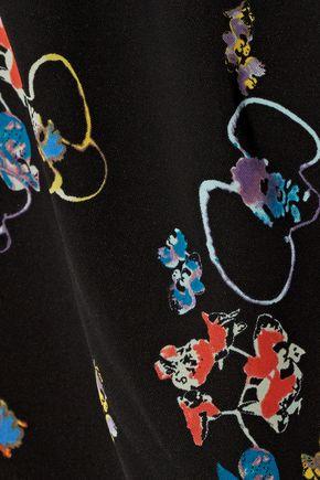 REBECCA MINKOFF Lovino off-the-shoulder floral-print crepe playsuit