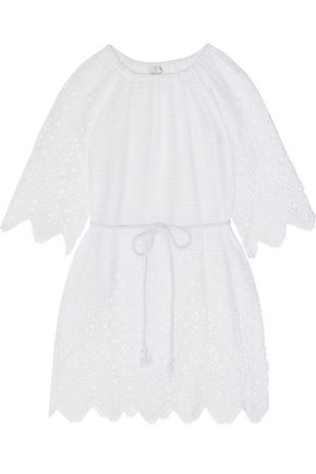 MIGUELINA Bridgette crochet-paneled cotton-lace kaftan