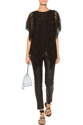REBECCA MINKOFF Hanky draped lace top