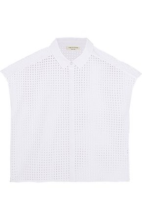 RAG & BONE Lakewood broderie anglaise cotton shirt