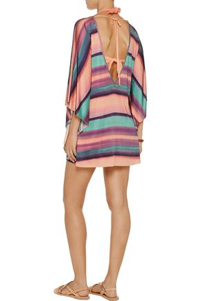 VIX Reef printed stretch-jersey coverup