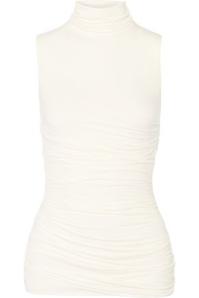 BAILEY 44 Ruched stretch-jersey turtleneck top