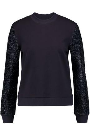 TORY BURCH Tinsel-paneled jersey sweatshirt