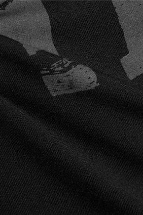 HAUTE HIPPIE Printed stretch-jersey top