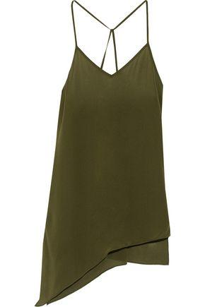HAUTE HIPPIE Asymmetric silk camisole