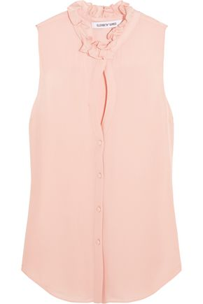 ELIZABETH AND JAMES Elitta silk-chiffon top