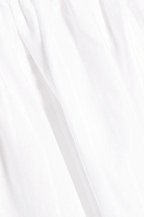 ELIZABETH AND JAMES Taura striped cotton-poplin top