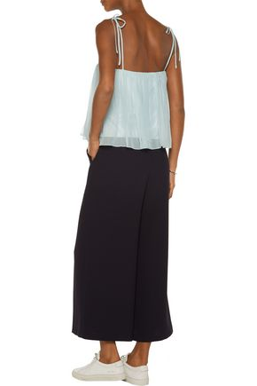 ELIZABETH AND JAMES Taura ruffled silk-chiffon top