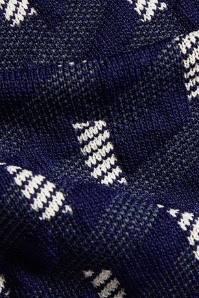 JONATHAN SIMKHAI Jacquard-knit halterneck top