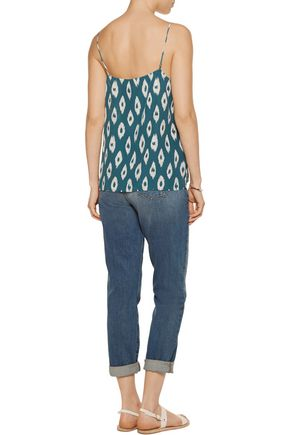 EQUIPMENT Layla printed washed-silk camisole