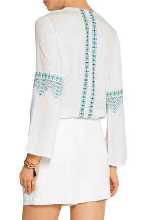 TALITHA Noor embroidered cotton-blend voile tunic
