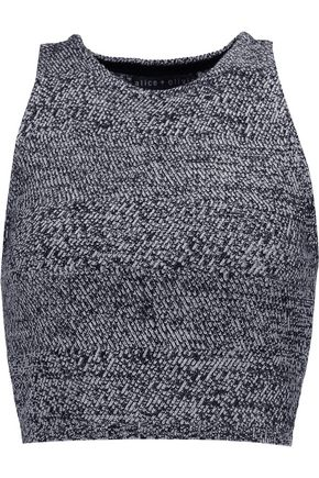ALICE+OLIVIA Coryn cropped marled wool top