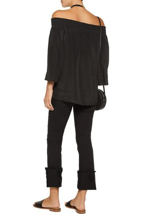 W118 by WALTER BAKER Aria off-the-shoulder silk top
