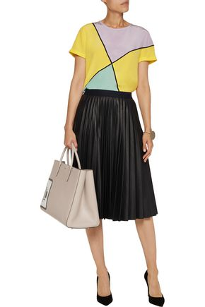 RAOUL Color-block silk top