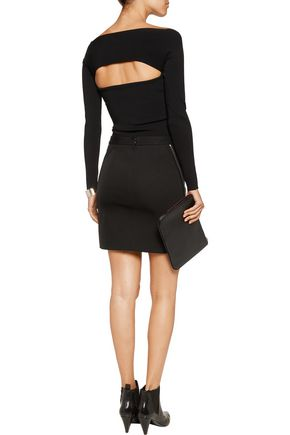 T by ALEXANDER WANG Cutout ribbed stretch-jersey top