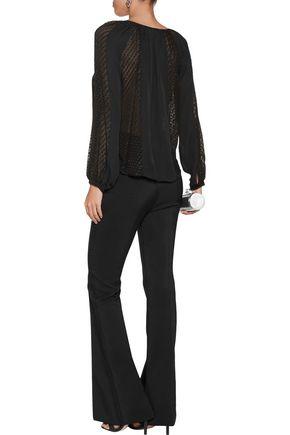 L'AGENCE Pearl printed fil coupé silk-blend blouse
