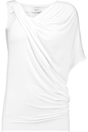 BAILEY 44 Tempest asymmetric draped stretch-jersey top