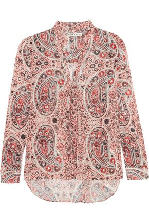 ALICE + OLIVIA Anabel printed crepe blouse