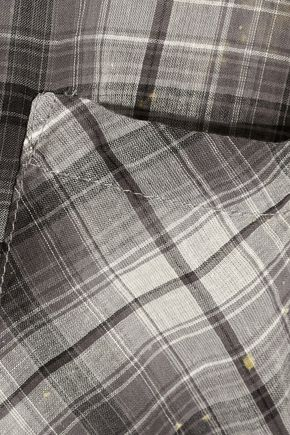 ENZA COSTA Plaid woven cotton shirt