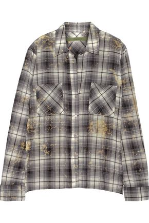 ENZA COSTA Plaid woven cotton shirt
