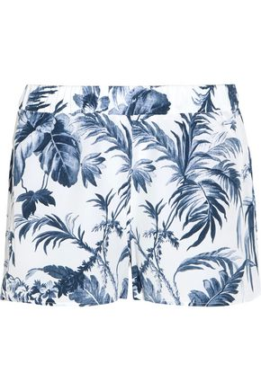 EQUIPMENT Landis printed washed-silk pajama shorts
