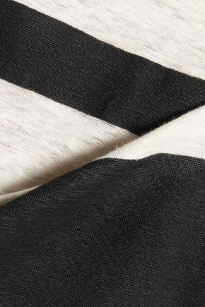 REBECCA MINKOFF Mindy striped slub linen tank