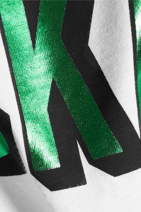 ÊTRE CÉCILE Cropped printed cotton T-shirt