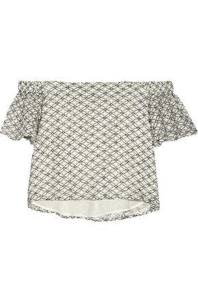 W118 by WALTER BAKER Mallory off-the-shoulder corded lace top