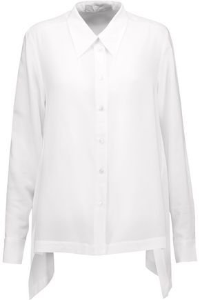 STELLA McCARTNEY Jones draped silk crepe de chine blouse