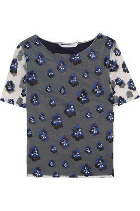 DIANE VON FURSTENBERG Brylee embroidered tulle top